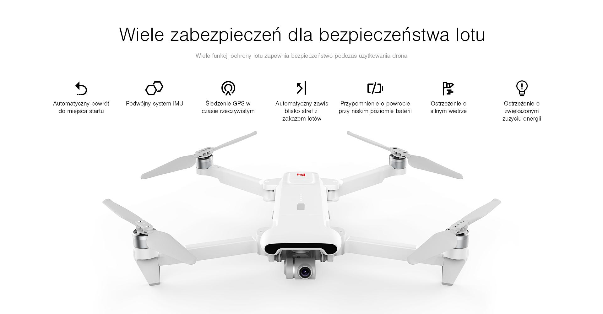 bezpieczeństwo lotu dronem fimi x8