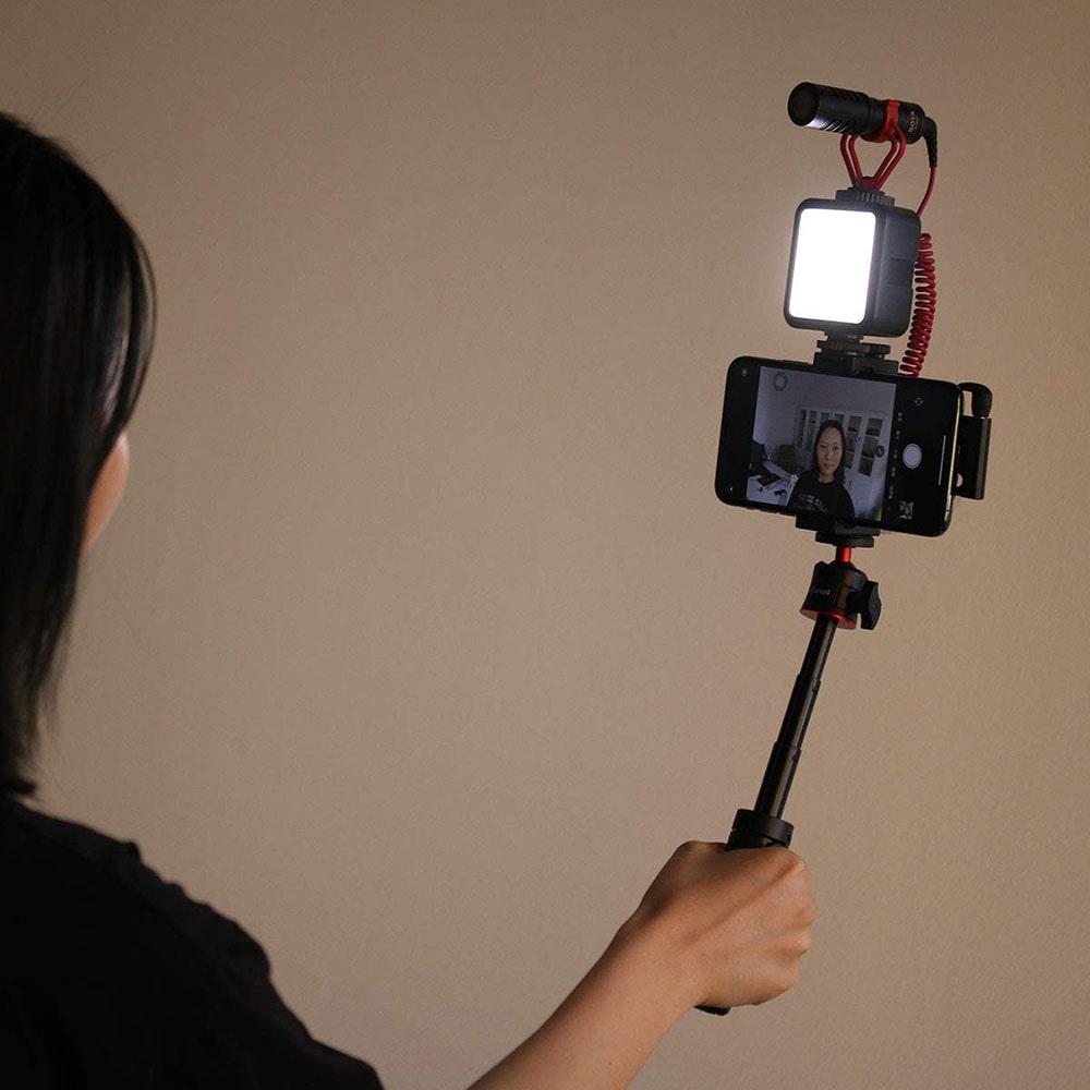 oświetlenie dla vlogera z regulacją światała