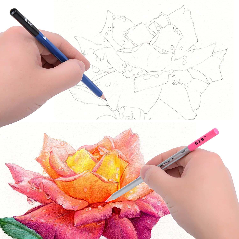 zestaw ołówków do szkicowania HB 71w1