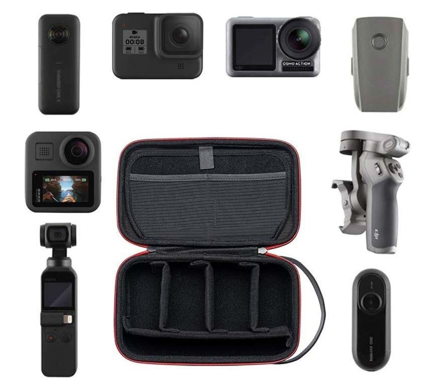 Etui Walizka do GoPro 9 8 7 6 MAX DJI Osmo Action